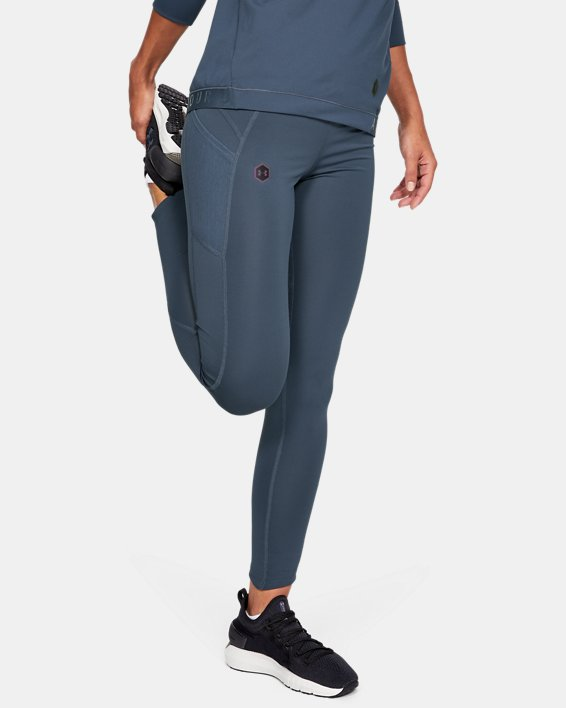 Women's UA RUSH™ ColdGear® Leggings, Gray, pdpMainDesktop image number 0