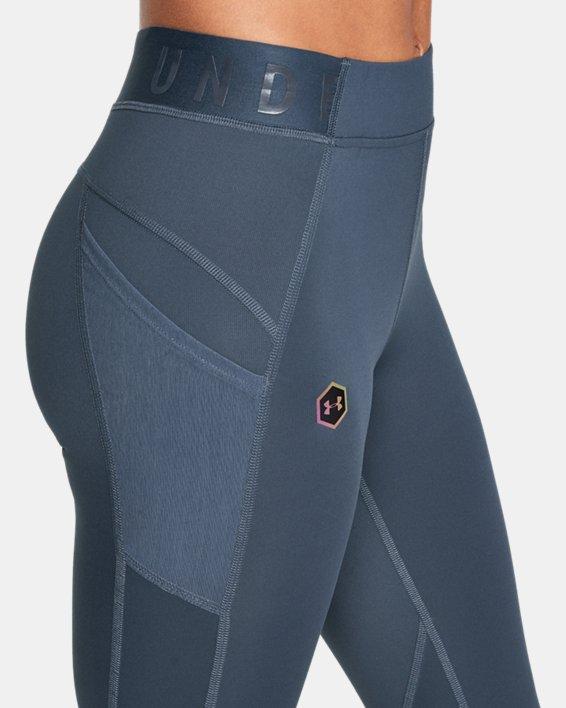 Women's UA RUSH™ ColdGear® Leggings, Gray, pdpMainDesktop image number 3