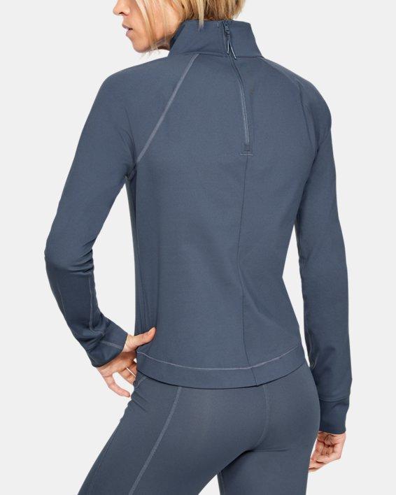 Women's UA RUSH™ ColdGear® Long Sleeve, Gray, pdpMainDesktop image number 2