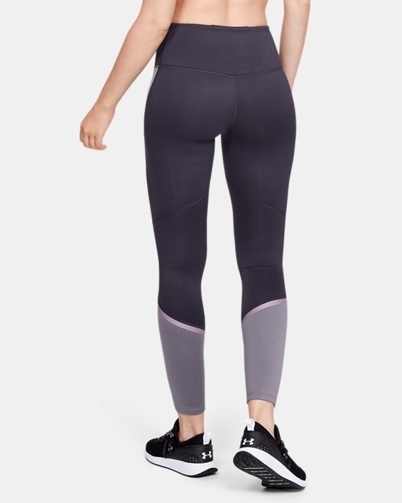 Women's ColdGear® Armour Leggings Graphic, Purple, pdpMainDesktop image number 2