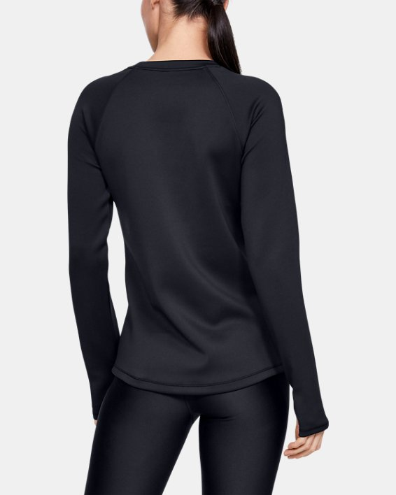 Women's ColdGear® Armour Long Sleeve, Black, pdpMainDesktop image number 2