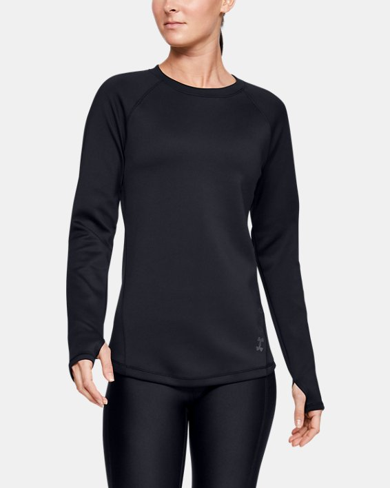 Women's ColdGear® Armour Long Sleeve, Black, pdpMainDesktop image number 0