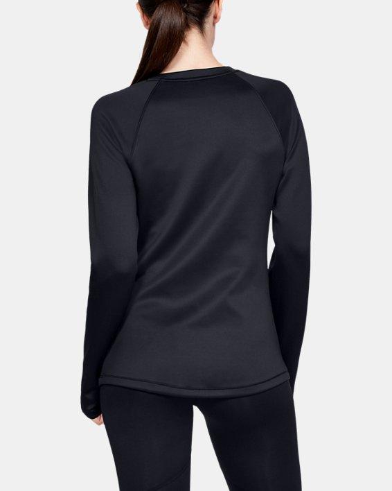 Women's ColdGear® Armour Long Sleeve Graphic, Black, pdpMainDesktop image number 2
