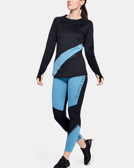 Women's ColdGear® Armour Long Sleeve Graphic, Black, pdpMainDesktop image number 1