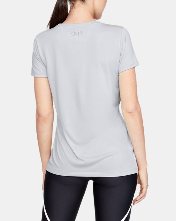 Women's UA Tech™ Short Sleeve Graphic, Gray, pdpMainDesktop image number 2