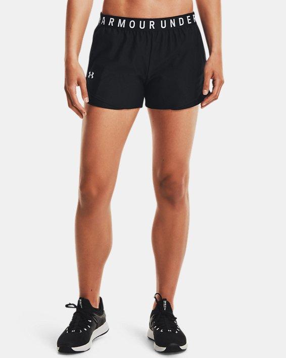 Damen UA Play Up Shorts 3.0, Black, pdpMainDesktop image number 1