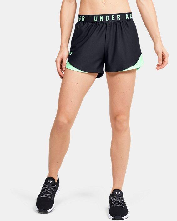 Women's UA Play Up Shorts 3.0, Black, pdpMainDesktop image number 0