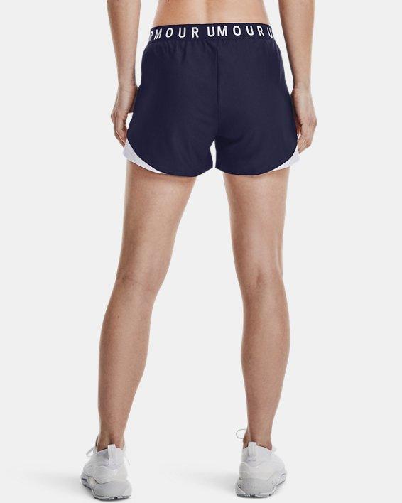 Women's UA Play Up Shorts 3.0, Navy, pdpMainDesktop image number 2