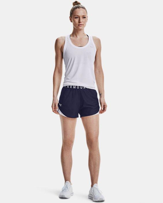 Women's UA Play Up Shorts 3.0, Navy, pdpMainDesktop image number 1