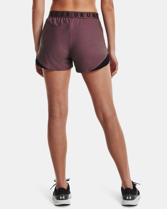 Women's UA Play Up Shorts 3.0, Purple, pdpMainDesktop image number 1