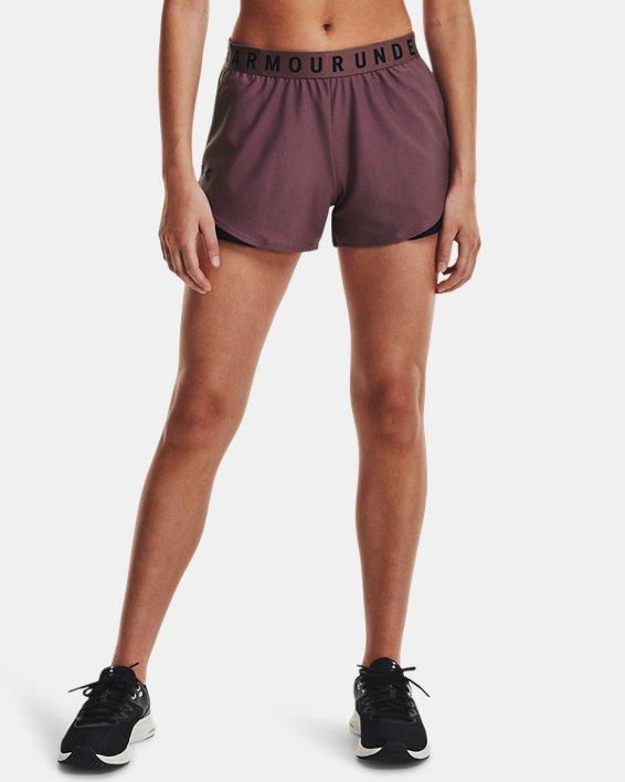 Women's UA Play Up Shorts 3.0, Purple, pdpMainDesktop image number 0