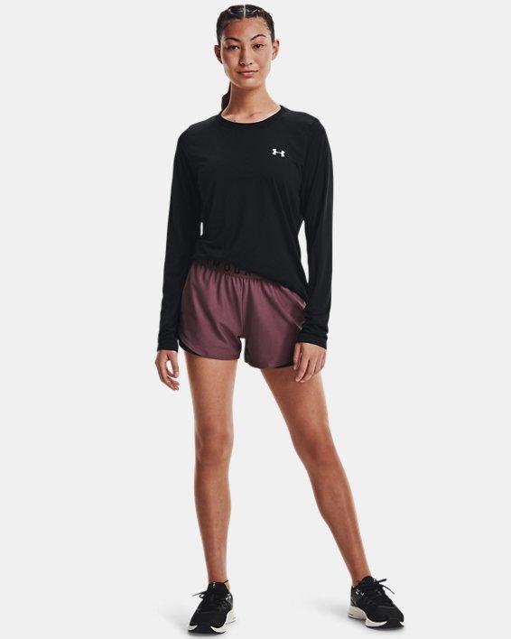 Women's UA Play Up Shorts 3.0, Purple, pdpMainDesktop image number 2