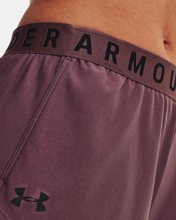 Women's UA Play Up Shorts 3.0, Purple, pdpMainDesktop image number 3