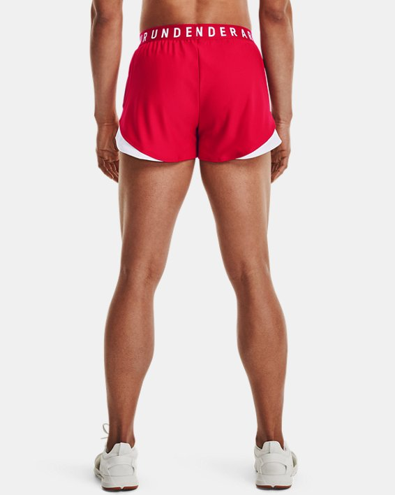 Women's UA Play Up Shorts 3.0, Red, pdpMainDesktop image number 2
