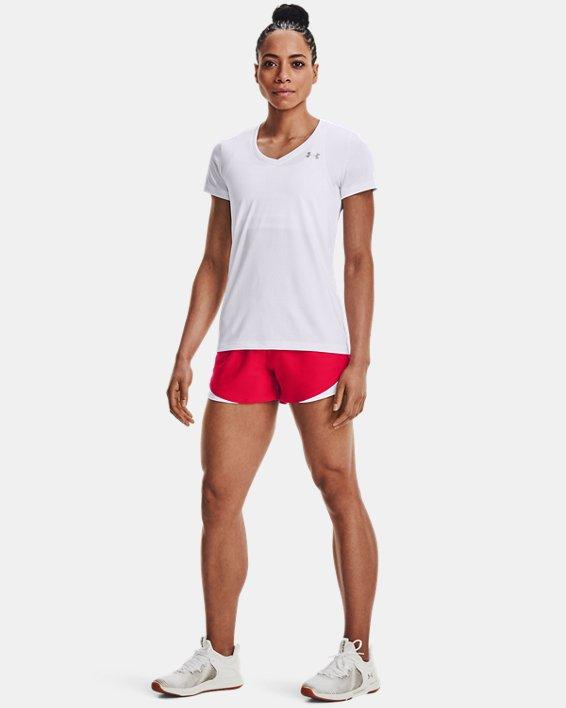Women's UA Play Up Shorts 3.0, Red, pdpMainDesktop image number 1