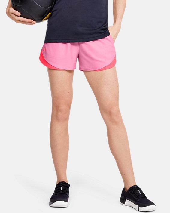 Women's UA Play Up Shorts 3.0, Pink, pdpMainDesktop image number 0