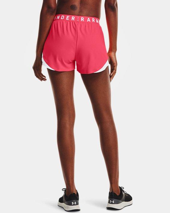 Women's UA Play Up Shorts 3.0, Pink, pdpMainDesktop image number 1