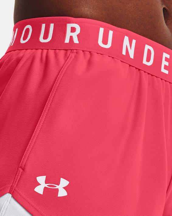 Women's UA Play Up Shorts 3.0, Pink, pdpMainDesktop image number 3