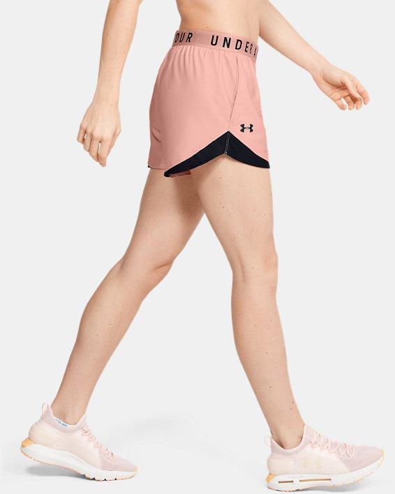Women's UA Play Up Shorts 3.0, Orange, pdpMainDesktop image number 3