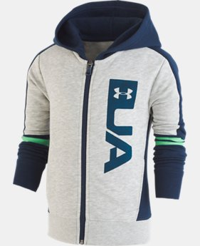 Boys' Pre-School UA Rival Full Zip Hoodie LIMITED TIME ONLY 1  Color Available $31.5