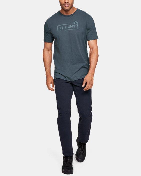 Men's UA Hunt Logo T-Shirt, Gray, pdpMainDesktop image number 1