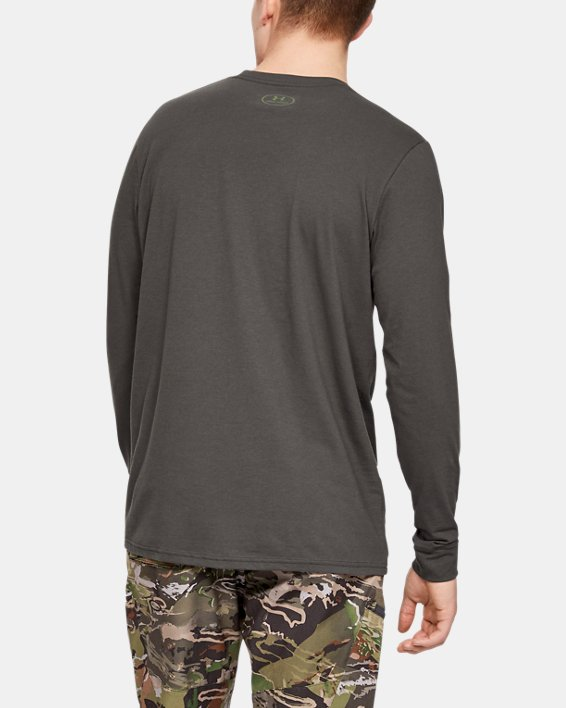 Men's UA Camo Fill Long Sleeve, Gray, pdpMainDesktop image number 3