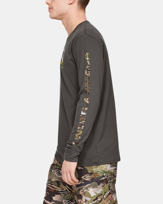Men's UA Camo Fill Long Sleeve, Gray, pdpMainDesktop image number 0