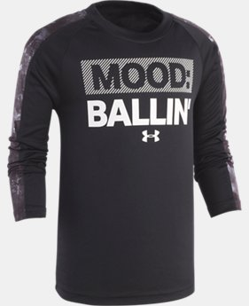 New Arrival Boys' Pre-School UA Mood: Ballin' Long Sleeve Shirt  1  Color Available $30
