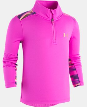 New Arrival Girls Pre-School UA Voltage ¼ Zip  1  Color Available $37