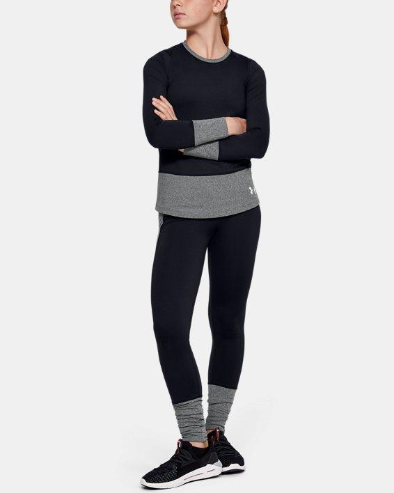 Girls' ColdGear® Long Sleeve Crew, Black, pdpMainDesktop image number 1