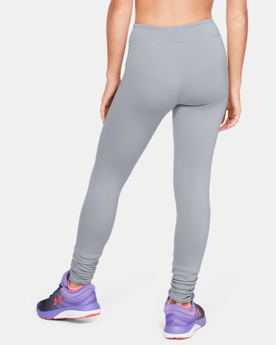 Girls' ColdGear® Leggings, Gray, pdpMainDesktop image number 2