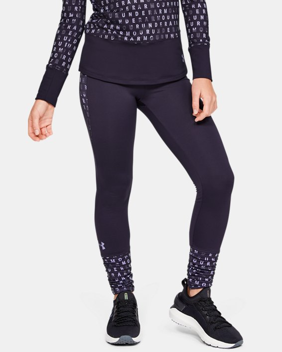 Girls' ColdGear® Leggings, Purple, pdpMainDesktop image number 1
