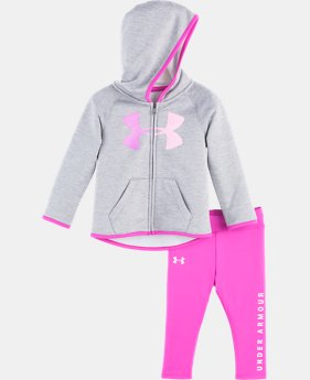 New Arrival Girls' Newborn UA Twist Logo Hoodie Set  1  Color Available $43