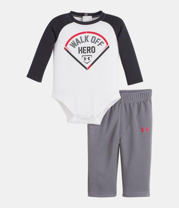 f2e627a919146 Boys' Newborn UA Walk Off Hero Set | Under Armour US