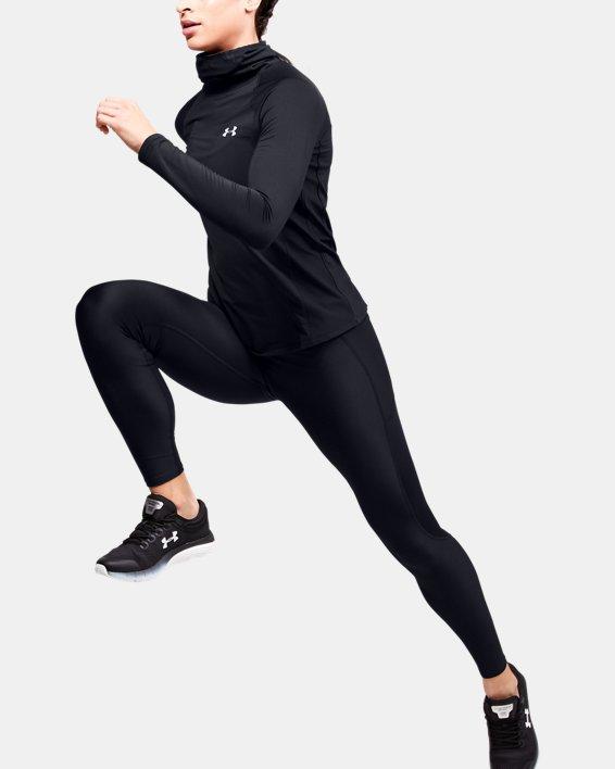 Women's ColdGear® Reactor Run Facemask Funnel Neck, Black, pdpMainDesktop image number 1