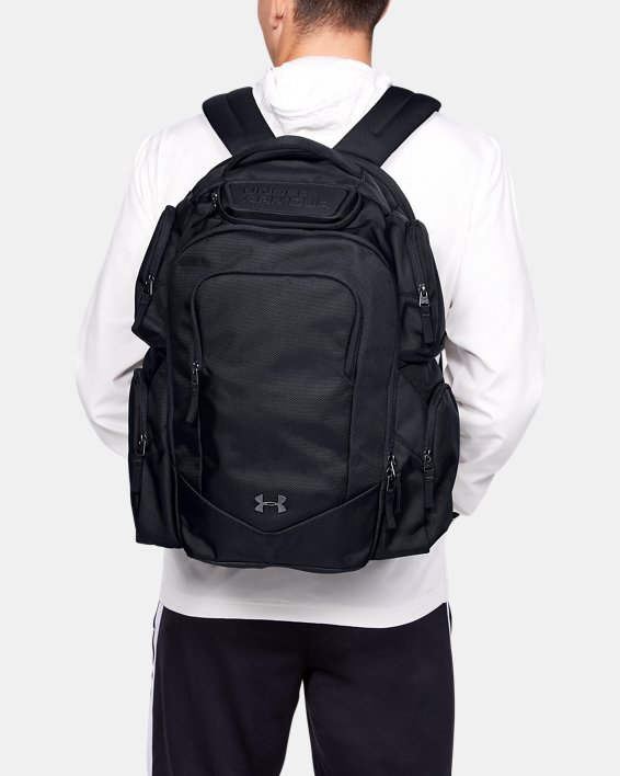 UA Travel Backpack, Black, pdpMainDesktop image number 0