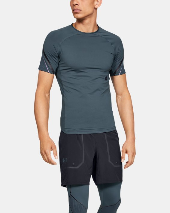 Men's UA RUSH™ Graphic Short Sleeve, Gray, pdpMainDesktop image number 0
