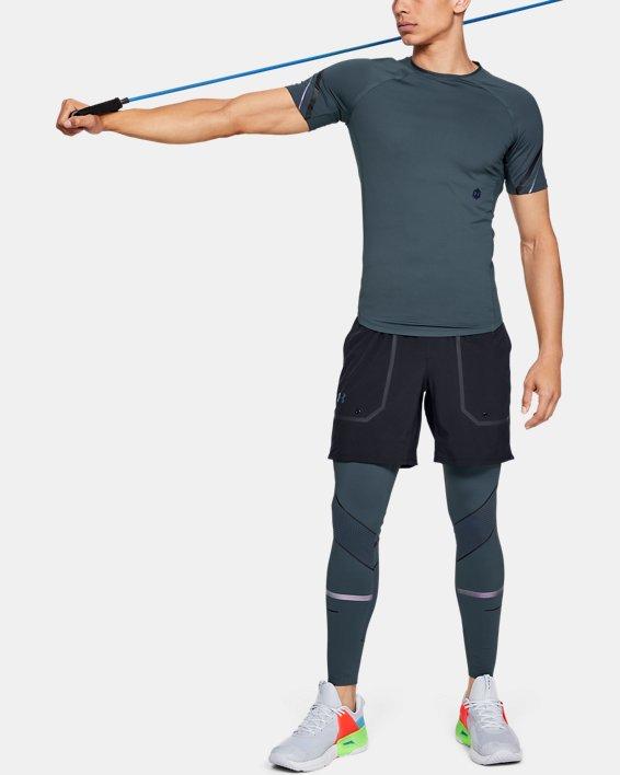 Men's UA RUSH™ Graphic Short Sleeve, Gray, pdpMainDesktop image number 1