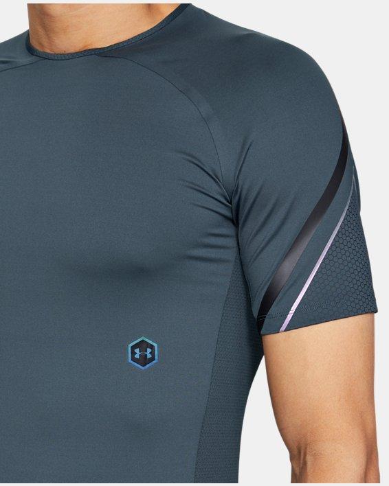 Men's UA RUSH™ Graphic Short Sleeve, Gray, pdpMainDesktop image number 6
