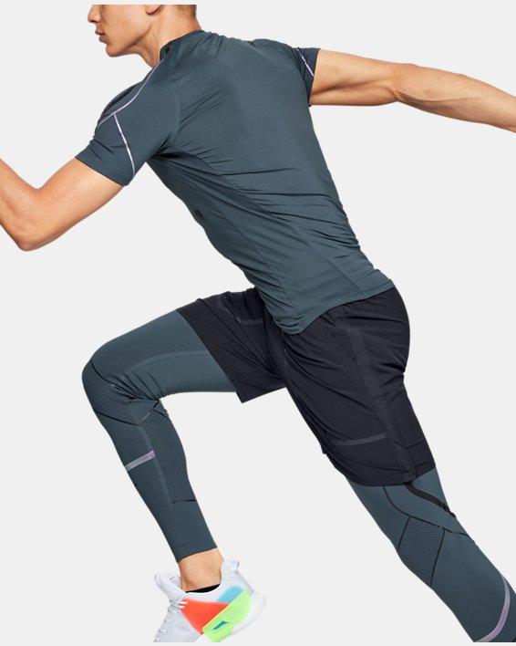Men's UA RUSH™ Graphic Short Sleeve, Gray, pdpMainDesktop image number 3