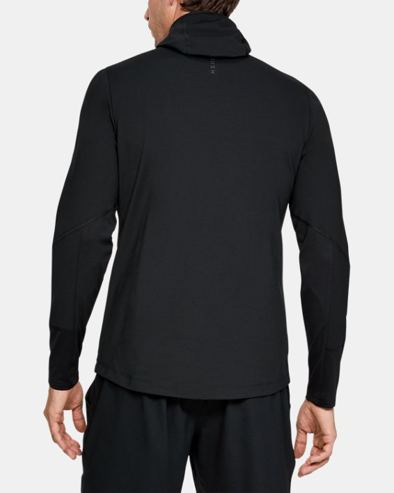 Men's UA RUSH™ ColdGear® Hoodie, Black, pdpMainDesktop image number 2