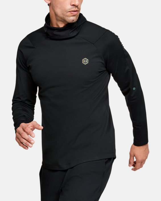 Men's UA RUSH™ ColdGear® Hoodie, Black, pdpMainDesktop image number 0