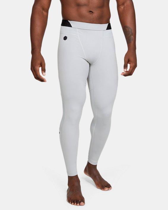 Men's UA RUSH™ ColdGear® Leggings, Gray, pdpMainDesktop image number 1