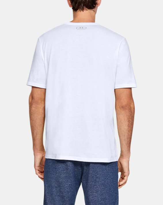 Men's UA Boxed Sportstyle T-Shirt, White, pdpMainDesktop image number 2