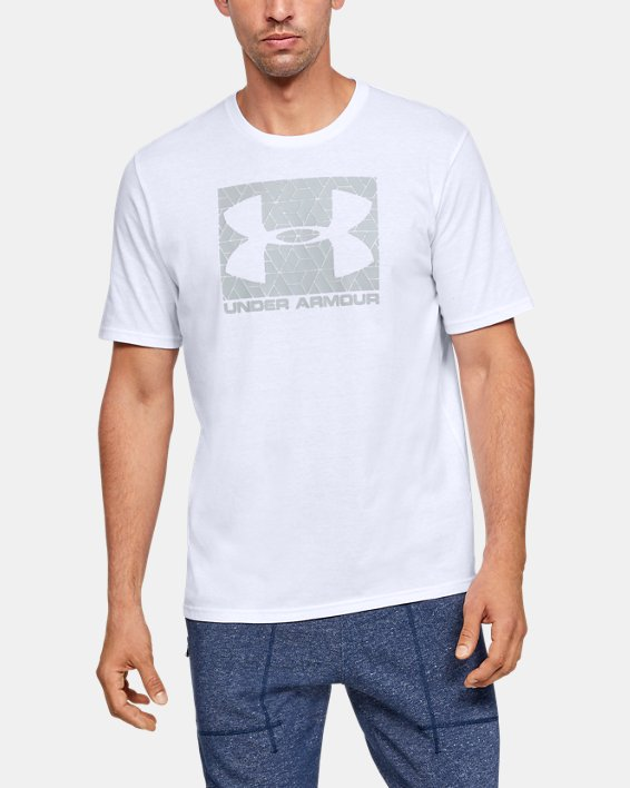 Men's UA Boxed Sportstyle T-Shirt, White, pdpMainDesktop image number 0