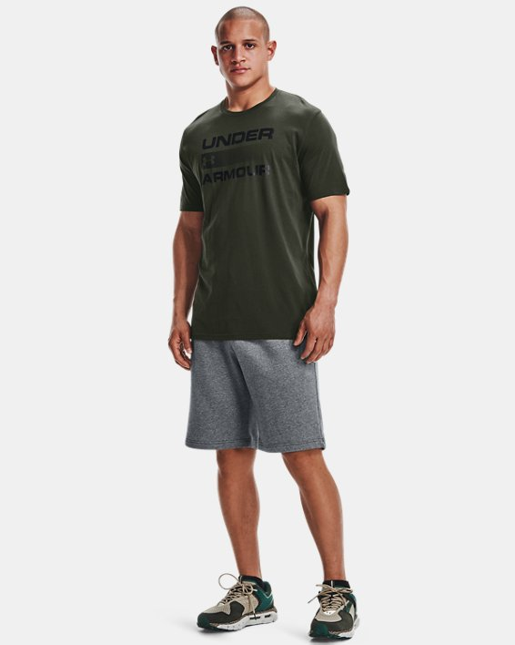 Men's UA Team Issue Graphic T-Shirt, Green, pdpMainDesktop image number 1