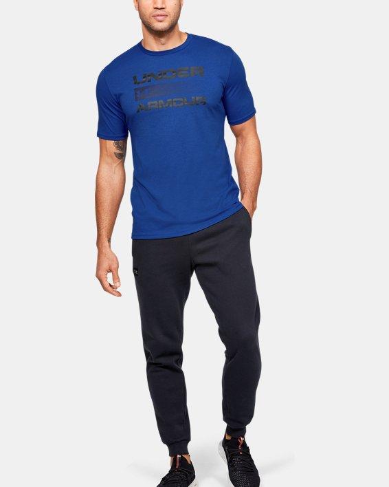 Men's UA Team Issue Graphic T-Shirt, Blue, pdpMainDesktop image number 1