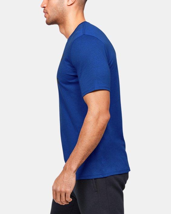 Men's UA Team Issue Graphic T-Shirt, Blue, pdpMainDesktop image number 3