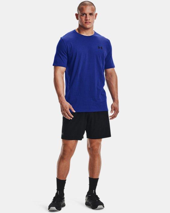 Men's UA Left Chest Lockup T-Shirt, Blue, pdpMainDesktop image number 1