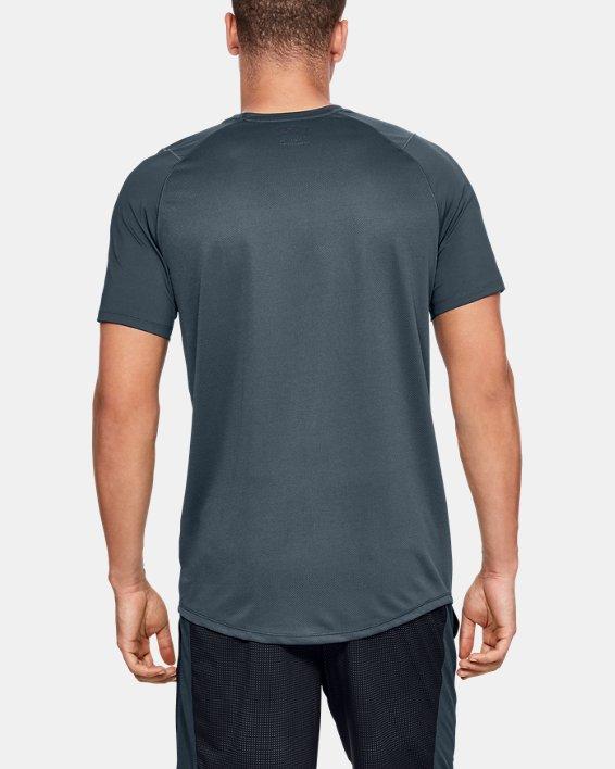 Men's UA MK-1 Colorblock Short Sleeve, Gray, pdpMainDesktop image number 2